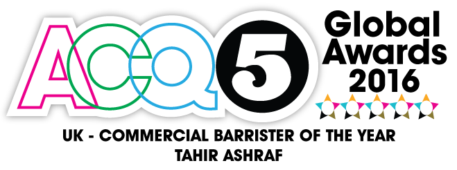 ACQ5 Global Awards 2016 Tahir Aashraf Commercial Barrister of the Year