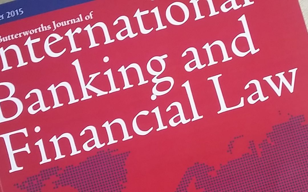 International Banking Law Journal Commissions Tahir Ashraf