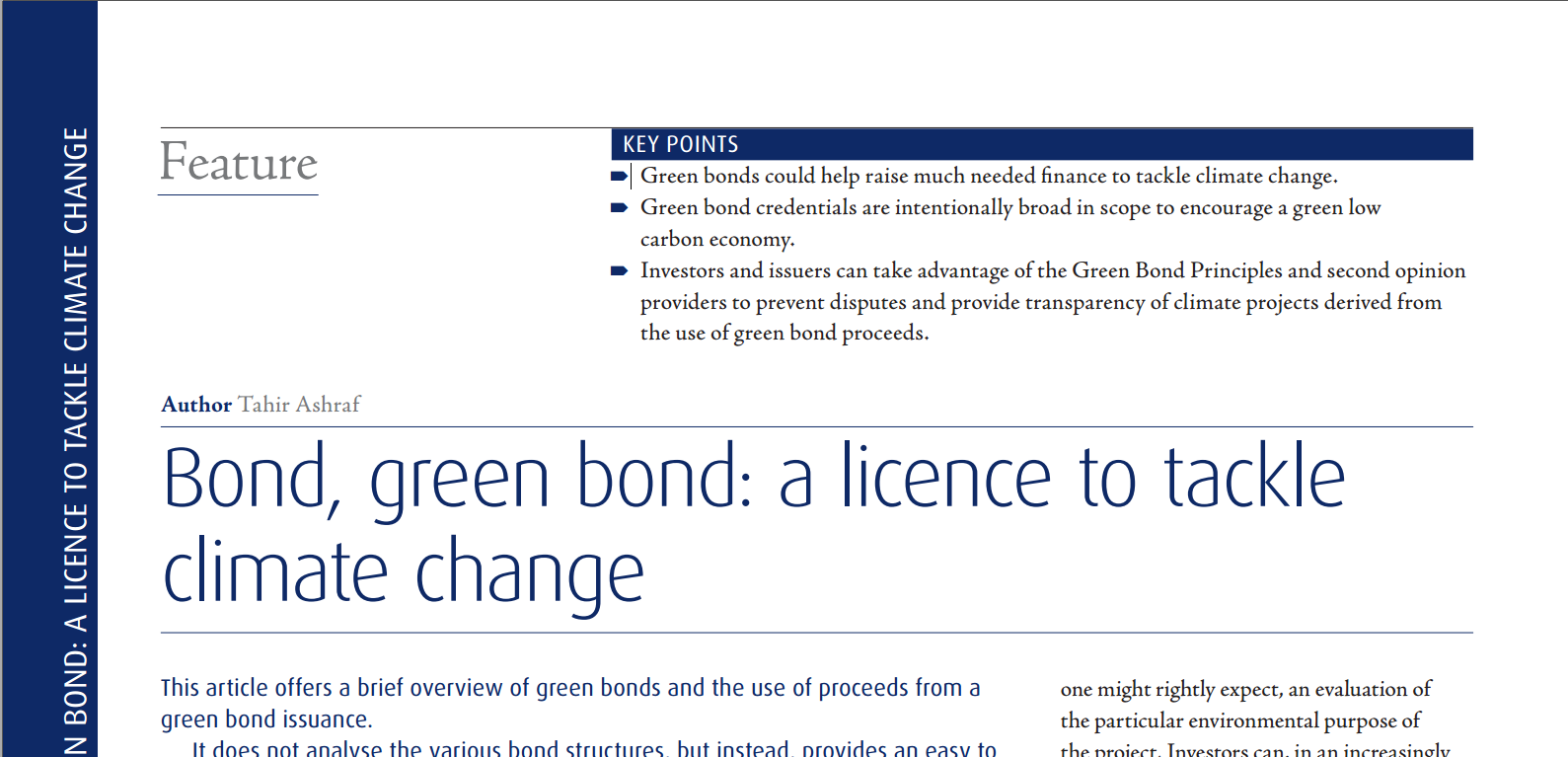Green Bonds and Climate Change Bond Green Bond_A Licence to Tackle Climate Change by barrister Tahir Ashraf